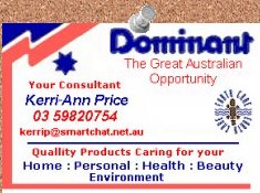 Hi im Kerri-Ann come and check our business Display page .. just click the card